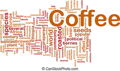 Coffee beverage background concept - Background concept...