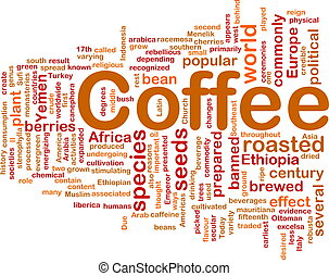 Coffee beverage background concept
