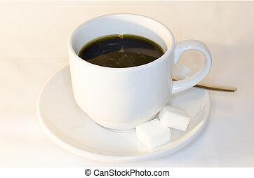Coffee Black with sugar Cubes 2