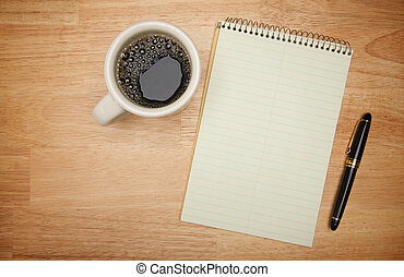 Coffee Blank Pad Paper