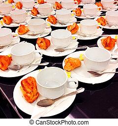 Coffee break at business meeting