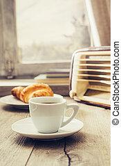 Coffee break at home