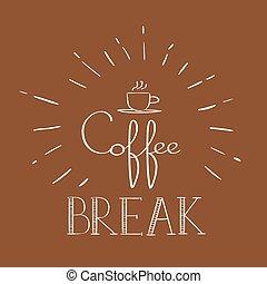 Coffee Break Banner Refreshment Poster