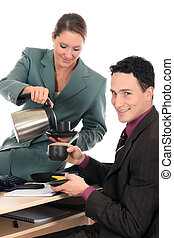 Coffee break business office