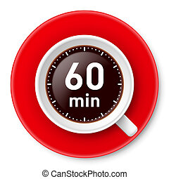 Coffee break. - Cup of coffee with time limit for break: one...