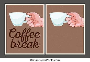 """Coffee break"" illustration set."