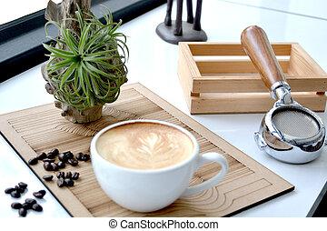 coffee break in a coffee shop - coffee mug in a coffee shop...