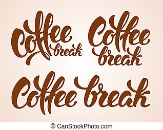 Coffee Break Lettering - Set of Calligraphy Lettering ...