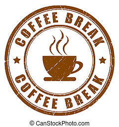 Coffee break sign isolated on white