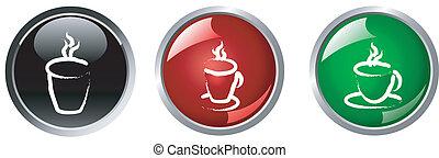 coffee button , vector