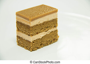 coffee cake on a white back ground.