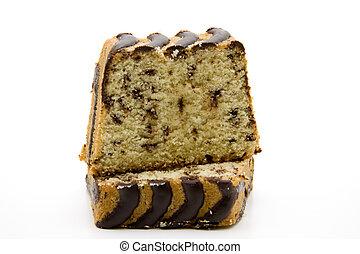 Coffee cake with chocolate