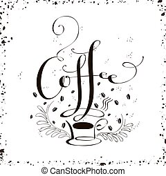 coffee calligraphy design