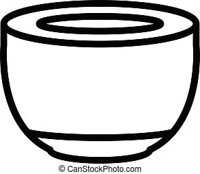 Coffee capsule icon, outline style