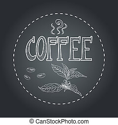 Coffee chalkboard illustration