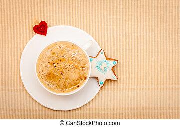 Coffee christmas gingerbread cookie