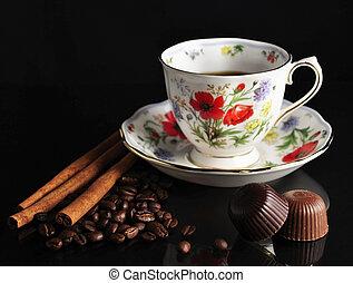 coffee ,cinnamon and chocolate