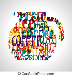 Coffee circle shape - Colorful coffee circle shape.EPS10...
