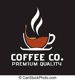 Coffee Co. Premium Quality Cup Of Coffee Background Vector Image