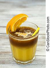 Coffee Cocktail with orange juice