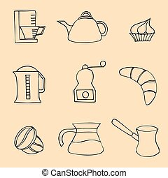Coffee collection. Vector illustration