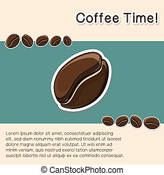 Coffee concept background.