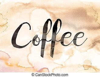 Coffee Concept Watercolor Theme
