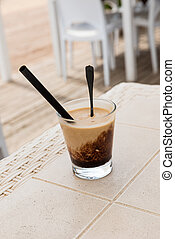 Coffee cream with ice