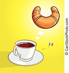 coffee croissant