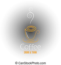 coffee cup abstract ornate design background