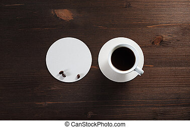 Coffee cup and coaster