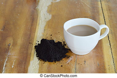 coffee cup and coffee scrub