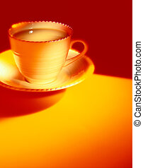 Coffee Cup and Saucer - Picture of Coffee Cup and Saucer