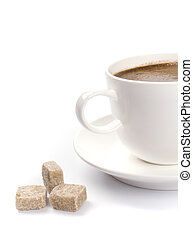 coffee cup and sugar
