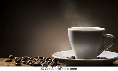coffee cup - Animated looping image, steamed hot cup of...