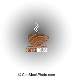 coffee cup art design background