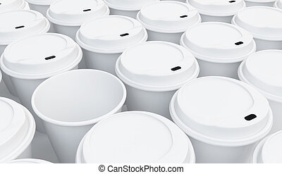 coffee cup background on a white background