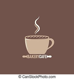 coffee cup bakery concept background