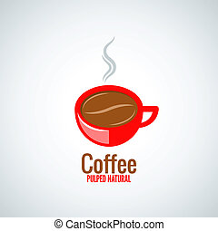 coffee cup bean design background