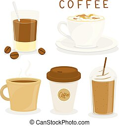 Coffee Cup Breakfast Cartoon Vector