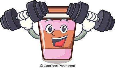 coffee cup character cartoon