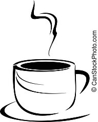 Coffee cup - Vector stylized image of hot tea cup.