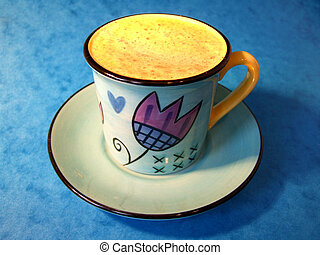 Coffee Cup - Coffee cup with coffee cream