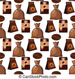 Coffee cup coffeemaker seamless pattern background vector...