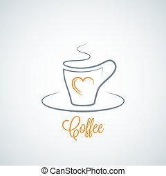 coffee cup concept background