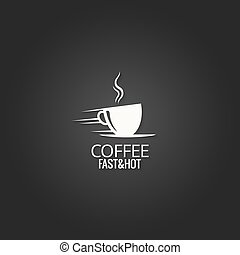 coffee cup concept design background
