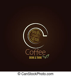 coffee cup concept menu design