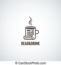 coffee cup concept reading background