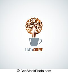 coffee cup design concept background