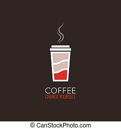 coffee cup energy concept design background